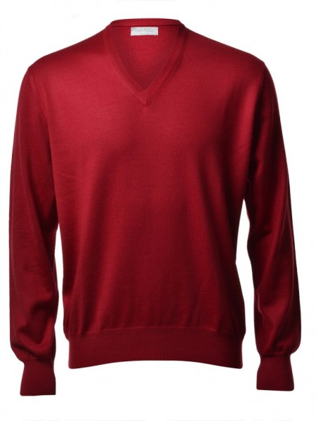 55115/14200 Gran Sasso Pullover mit V Ausschnitt